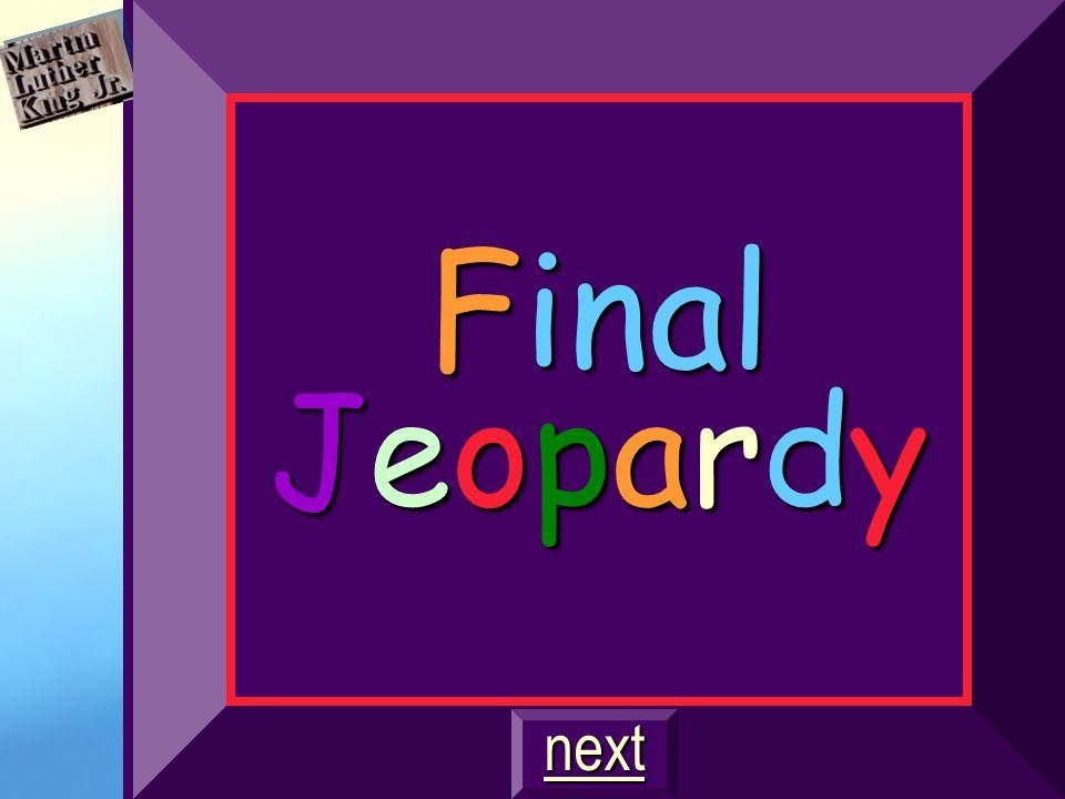 Final Jeopardy next