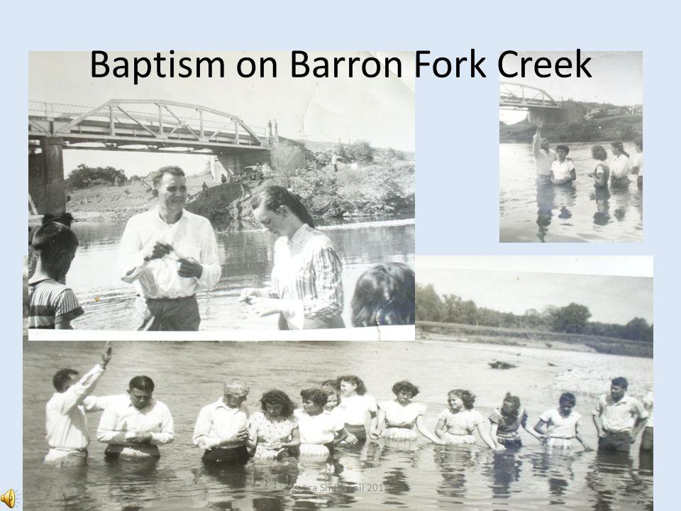 Baptism on Barron Fork Creek Laura Smith Fall 2011