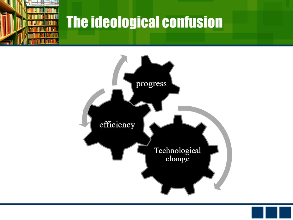 The ideological confusion Technological change efficiency progress