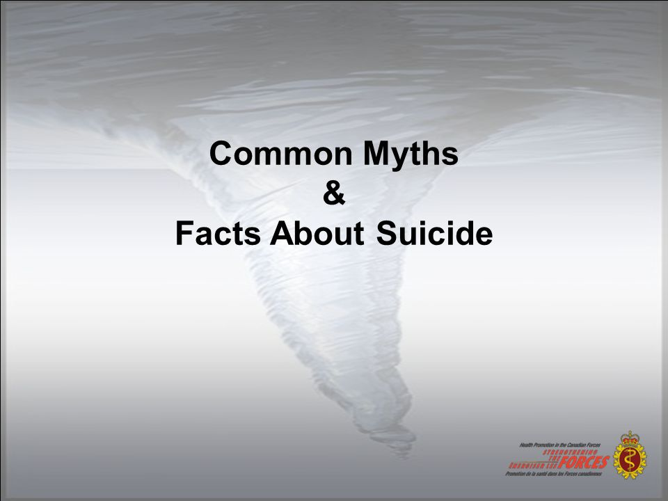 Common Myths & Facts About Suicide