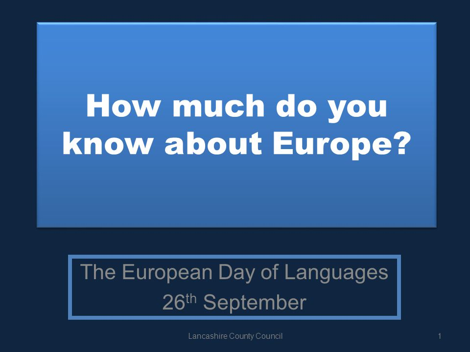 How much do you know about Europe.