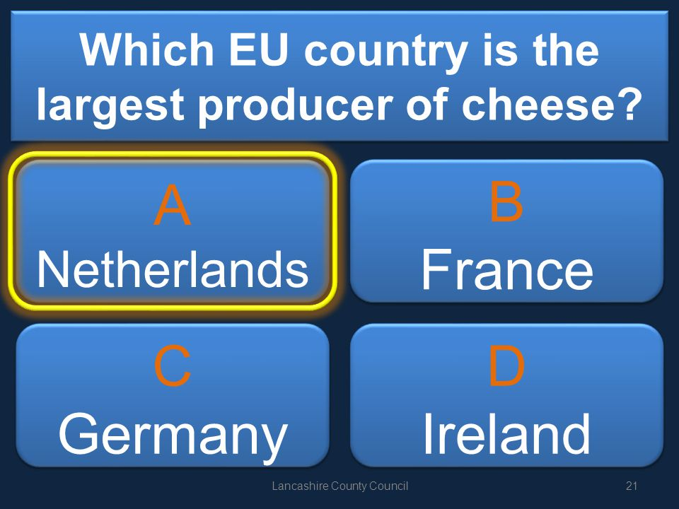 Which EU country is the largest producer of cheese.