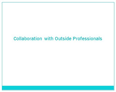 Collaboration with Outside Professionals
