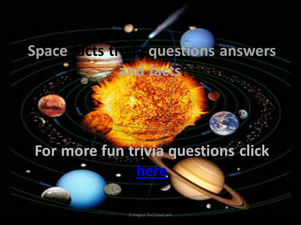 Space facts trivia questions answers and facts.