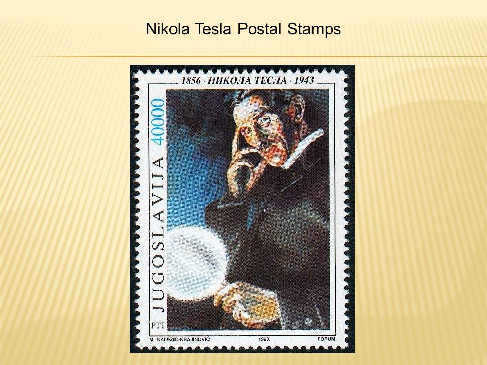 Nikola Tesla Postal Stamps