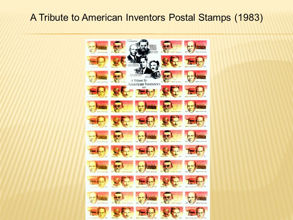 A Tribute to American Inventors Postal Stamps (1983)