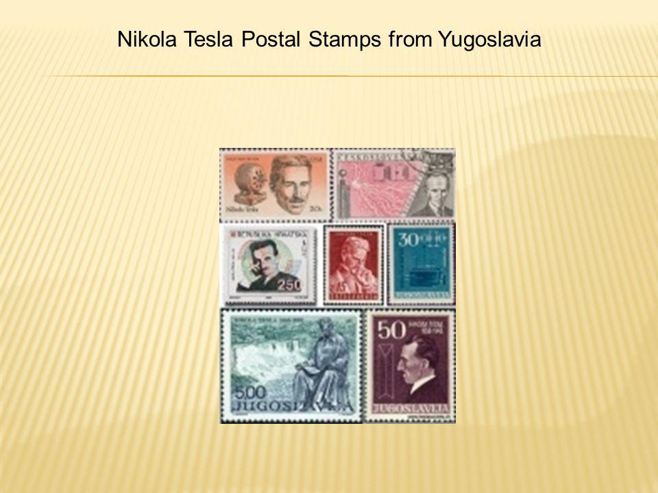 Nikola Tesla Postal Stamps from Yugoslavia