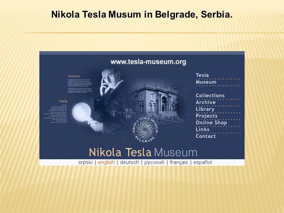 Nikola Tesla Musum in Belgrade, Serbia.