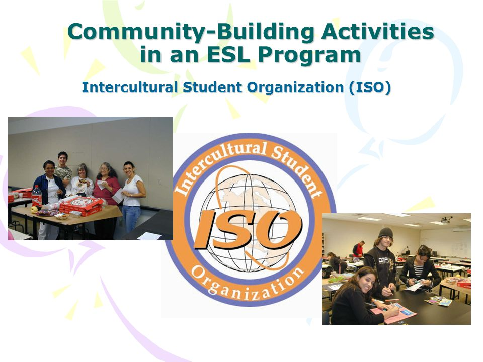 Community-Building Activities in an ESL Program Intercultural Student Organization (ISO)