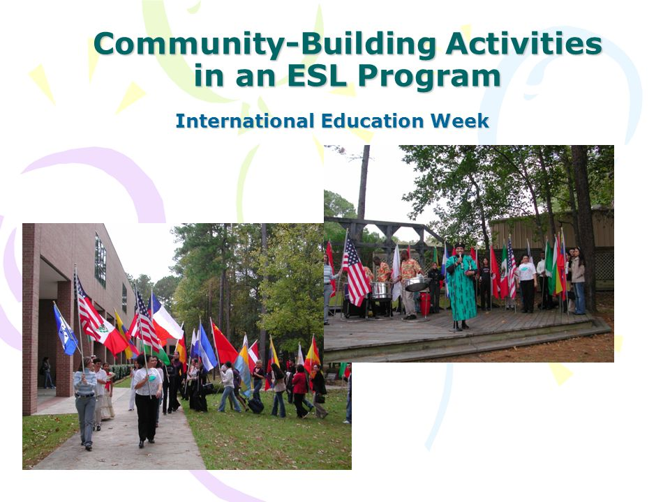 Community-Building Activities in an ESL Program International Education Week