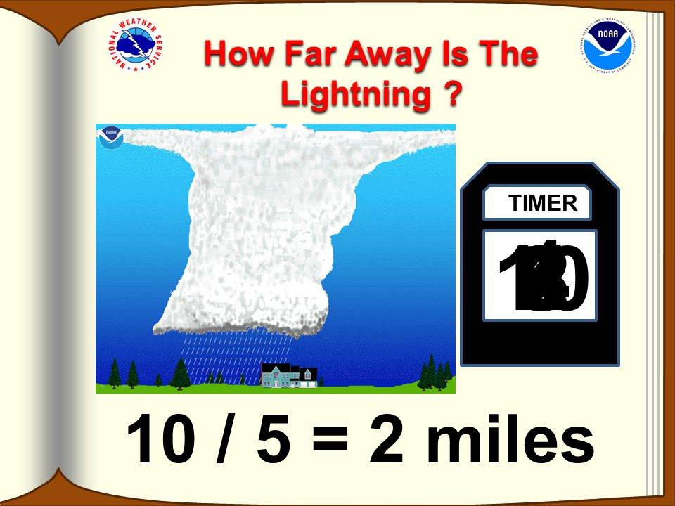 How Do I Tell How Far Away The Lightning Is? If you count the number of seconds between the flash of lightning and the sound of thunder, and then divi