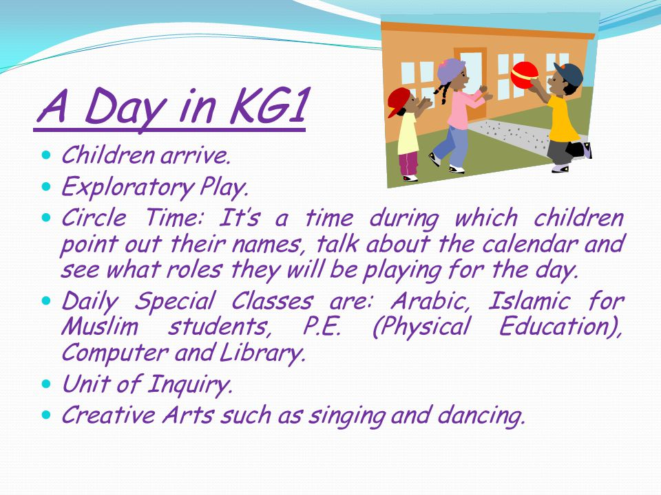 A Day in KG1 Children arrive. Exploratory Play.