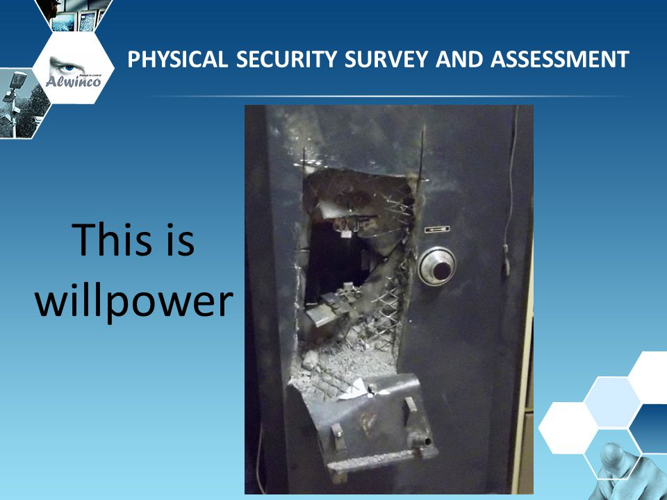PHYSICAL SECURITY SURVEY AND ASSESSMENT This is willpower