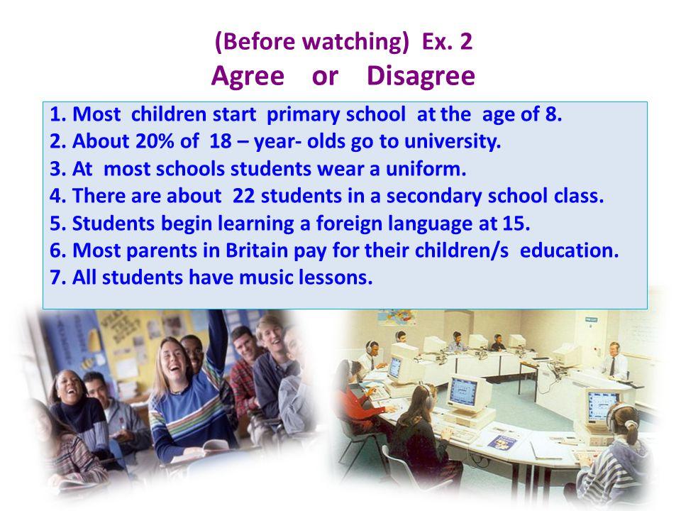 School subjects Extra – curricular activities Types of Schools 111 222 333 444 555