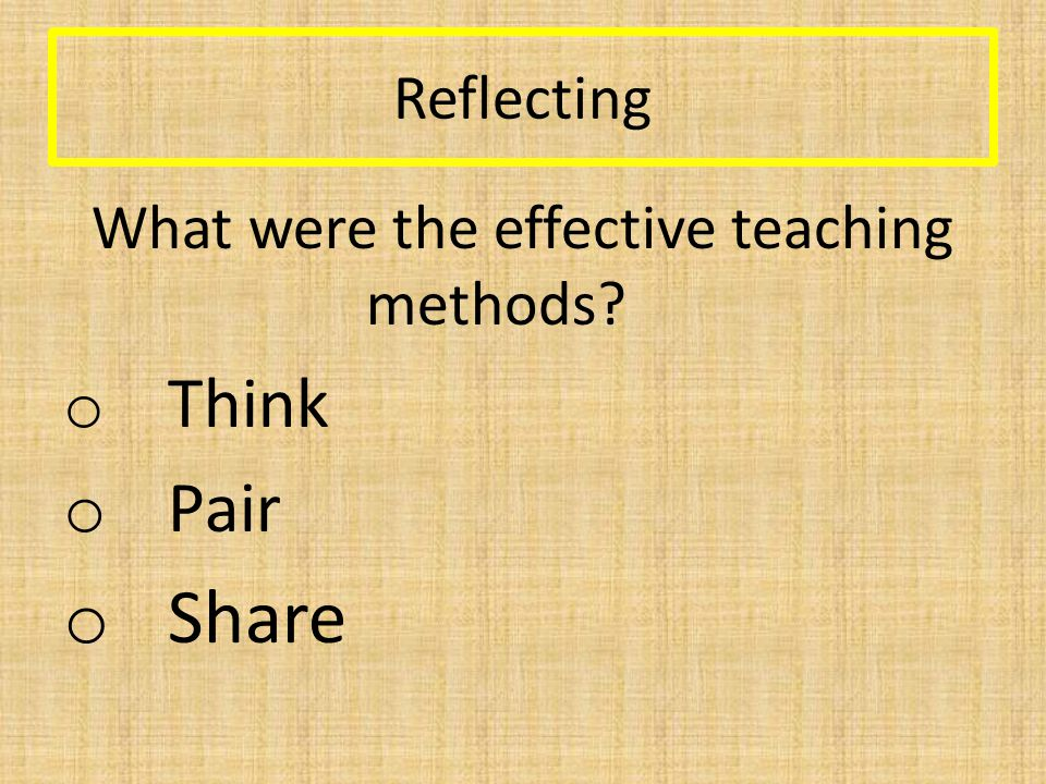 An effective session 1.What do you want them to learn.