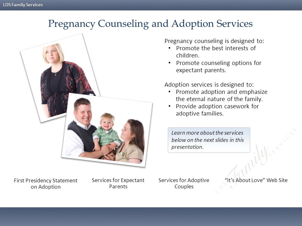 LDS Family Services Strengthening the Family is a new course designed to help parents understand principles of effective parenting, improve parenting