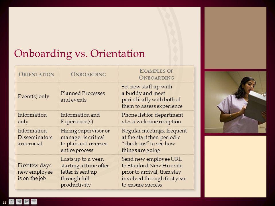 14 ESC Onboarding vs. Orientation