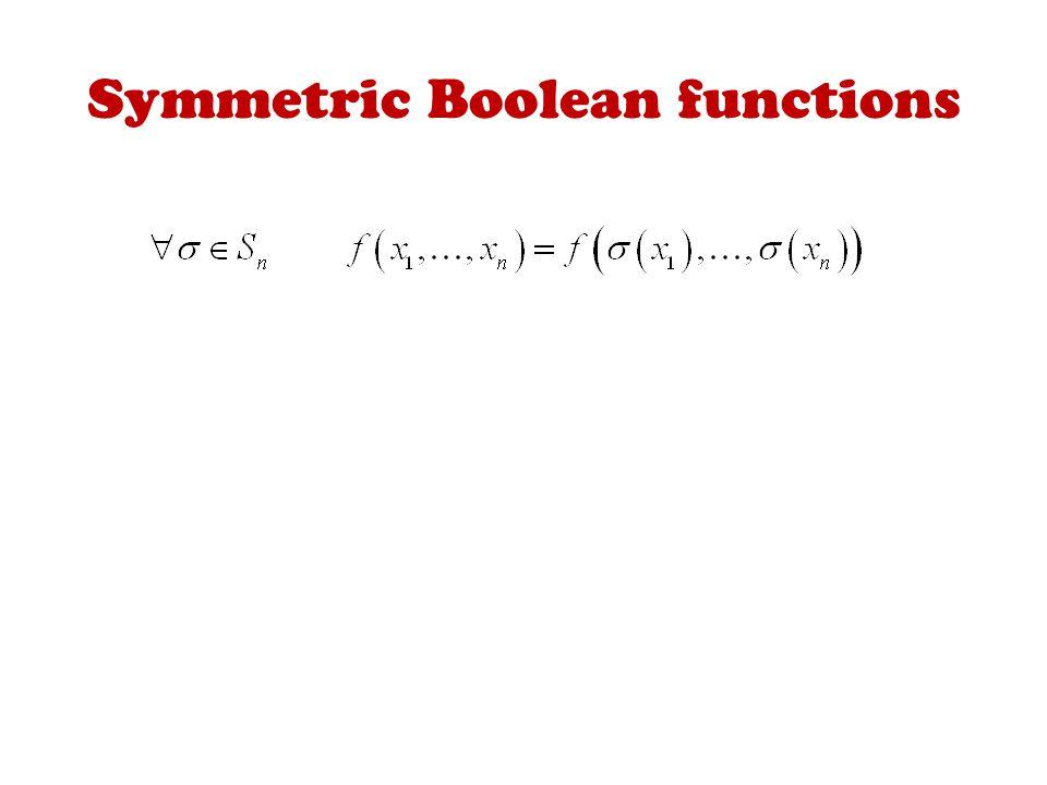 Symmetric Boolean functions