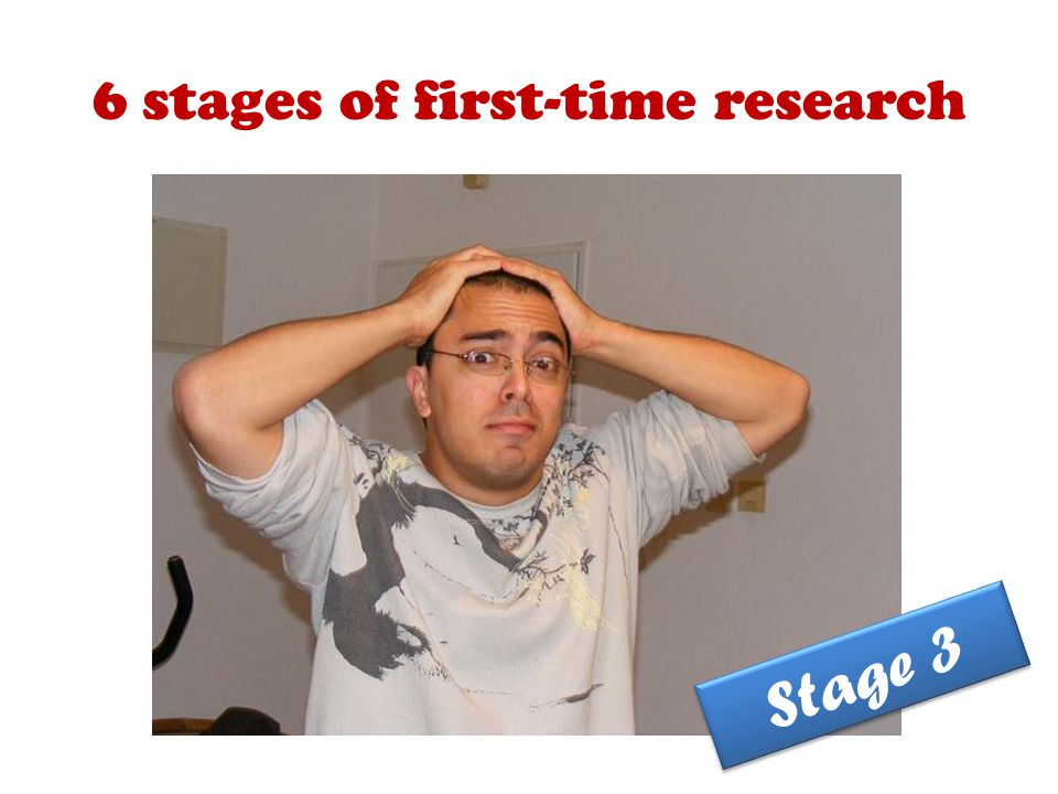 6 stages of first-time research Stage 3