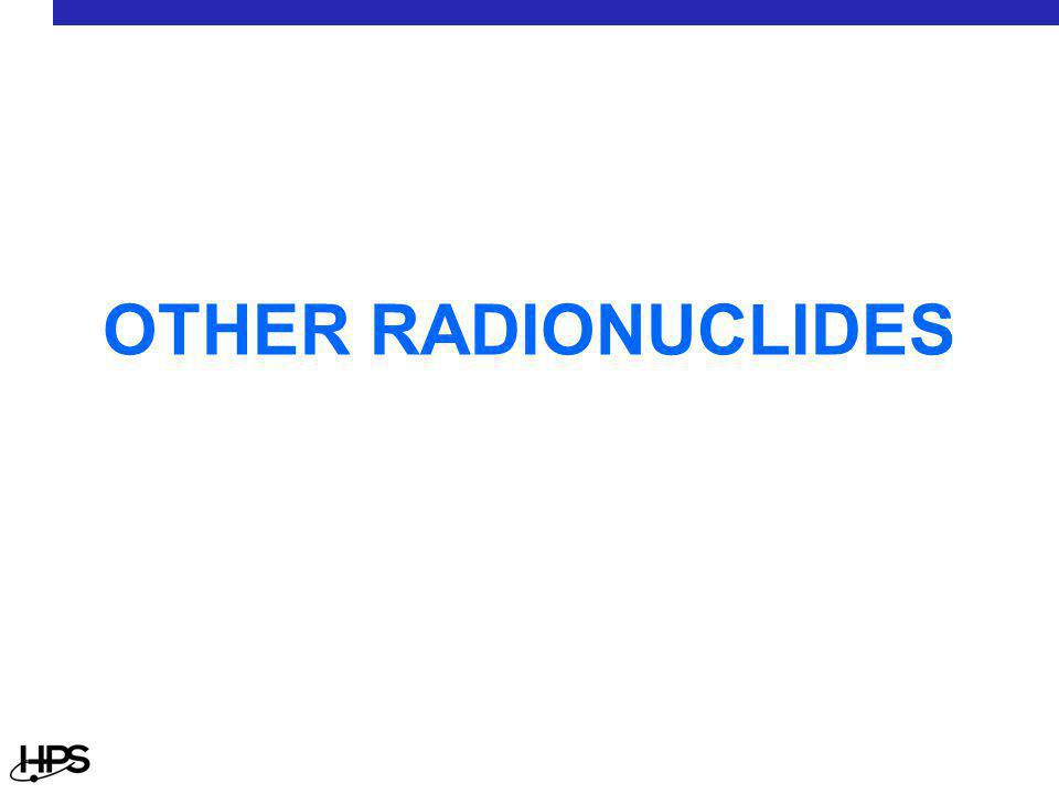 OTHER RADIONUCLIDES