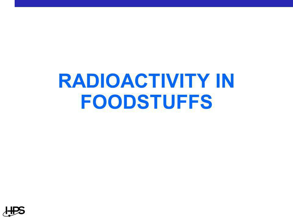 RADIOACTIVITY IN FOODSTUFFS