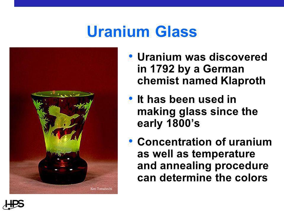 Vaseline Glass Under UV Light