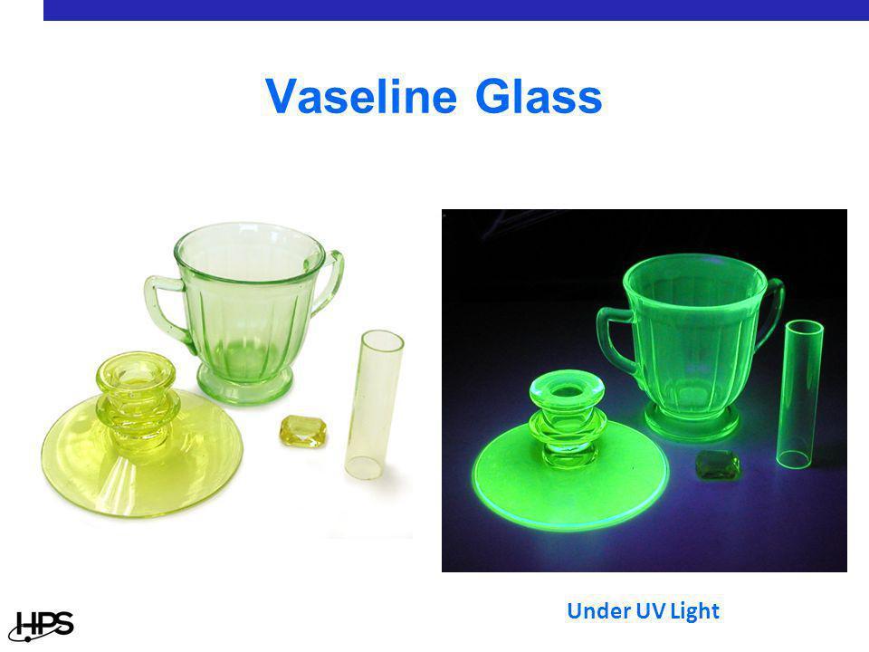 A Uranium Glass Marble Under UV Light