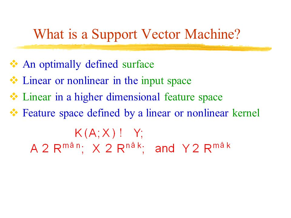 What is a Support Vector Machine.