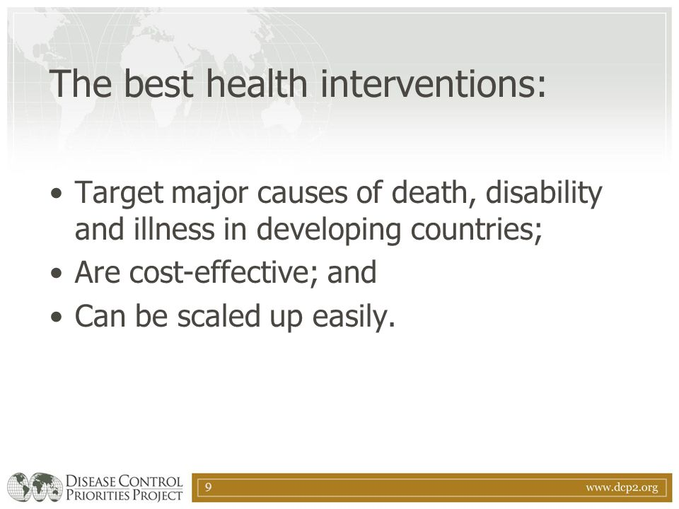 10 How can DCPP help.Helps countries choose the best health investments.