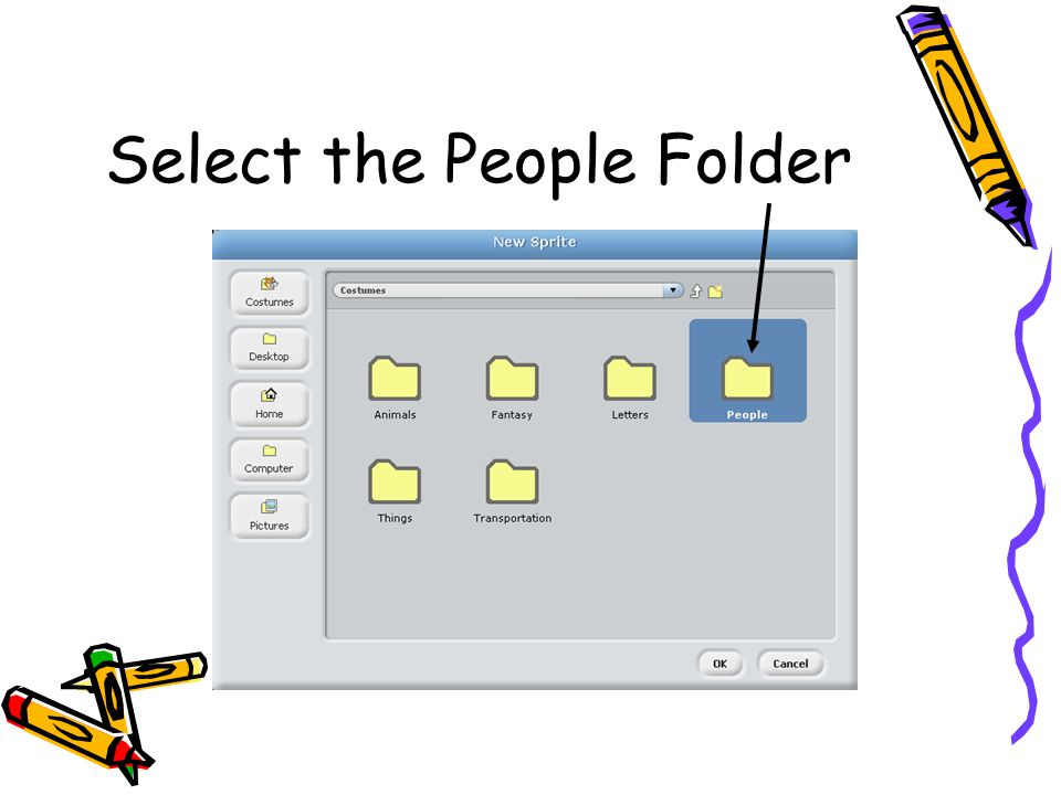 Select the People Folder