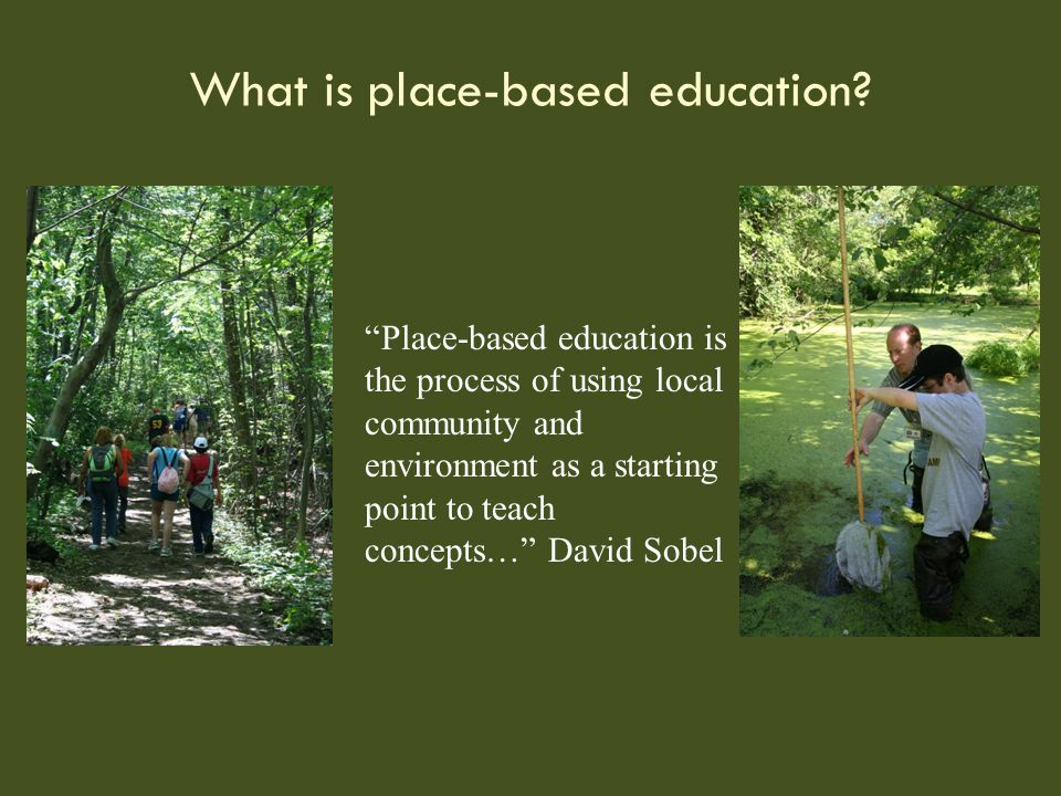 What is place-based education.