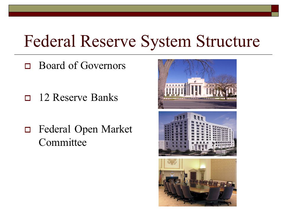 Key Tools of Monetary Policy  Discount Rate The interest rate charged by the Federal Reserve to banks that borrow on a short-term (usually overnight) basis  Reserve Requirements The amount of money banks must keep on reserve at the Fed  Open Market Operations Buying and selling Treasury securities between the Fed and selected financial institutions in the open market Most important tool; directed by the FOMC