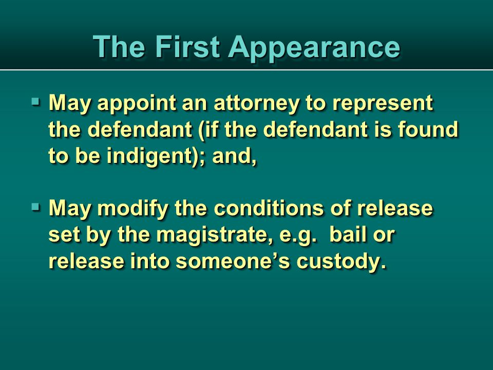 The Appeals Process If the defendant is found guilty, he may appeal the sentence in Appeals Court.