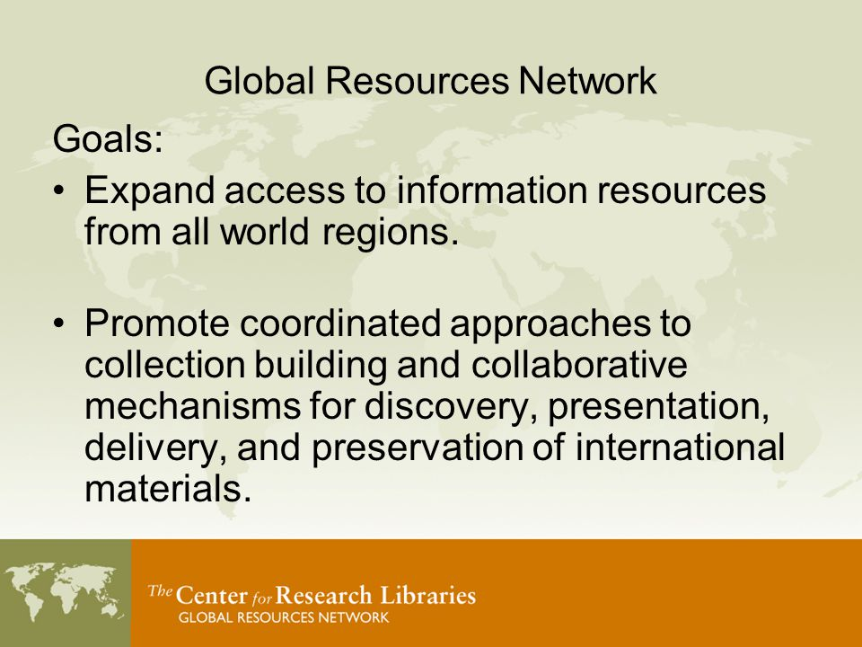 EThOS Electronic Thesis Online Service (British Library) –Single point of access to Ph.D theses from UK –Digital access through CRL Demand Purchase –Partnership for selection, digitization of key areas