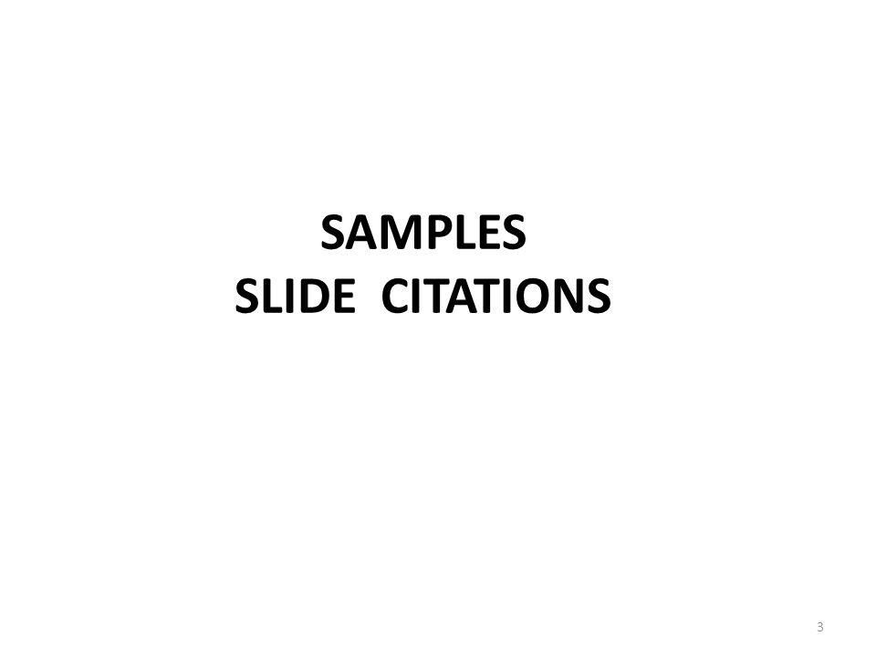 SAMPLES SLIDE CITATIONS 3
