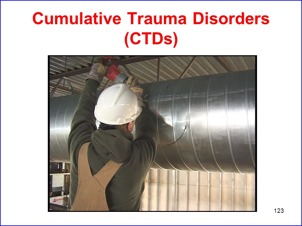 123 Cumulative Trauma Disorders (CTDs)