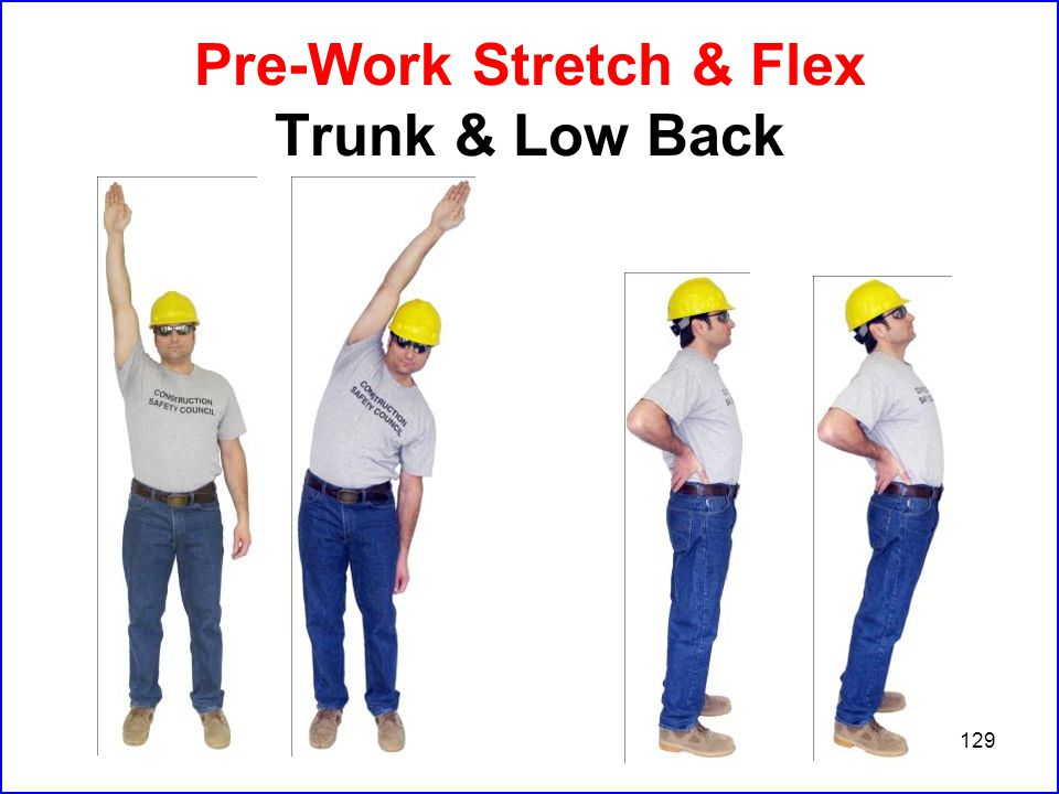 129 Pre-Work Stretch & Flex Trunk & Low Back