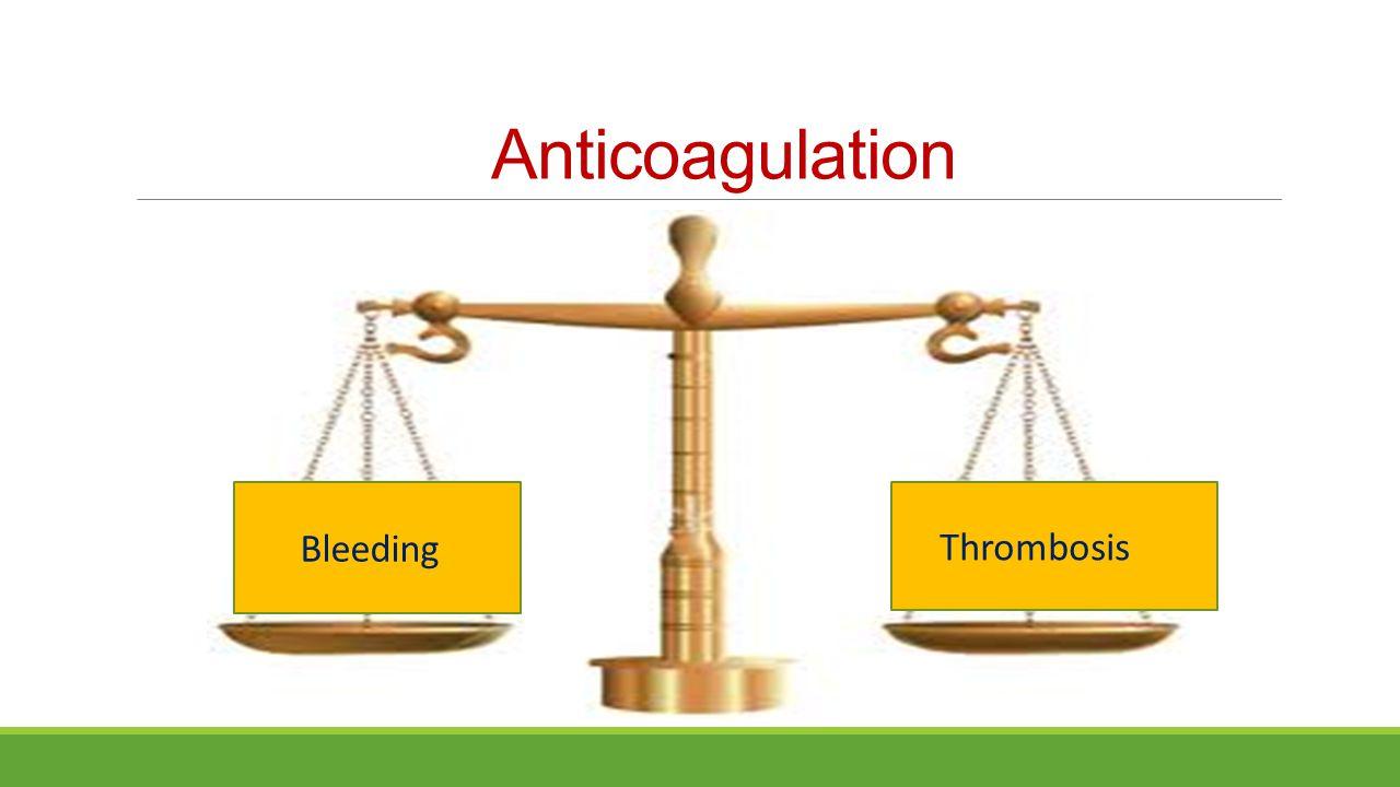 Anticoagulation Bleeding Thrombosis