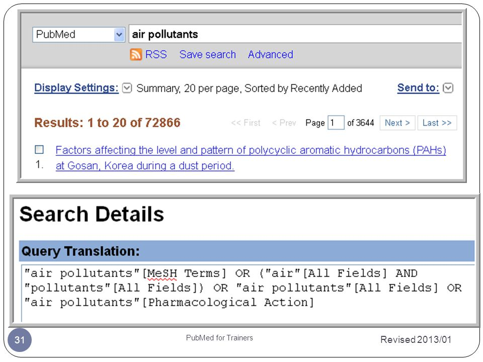 Revised 2013/01 PubMed for Trainers 31