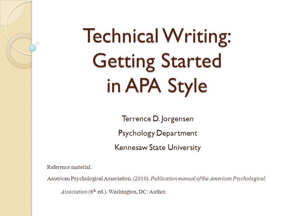 Citations in Text: Basic Form The first time a work is cited in a paragraph, cite the author's (or authors') last name(s) and the year of publication (see APA p.