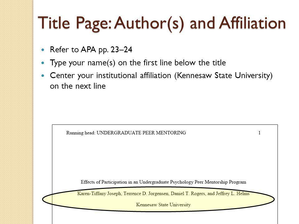 title research paper apa Apa citation examples the apa style guide to electronic references notes that it is still but must identify the source clearly in the text of your paper.