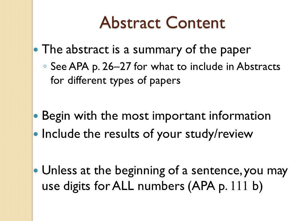 The Body (Text) of the Paper Center the title on the first line of the page Begin your introduction on the following line ◦ Do NOT include the word Introduction Indent all paragraphs (APA p.