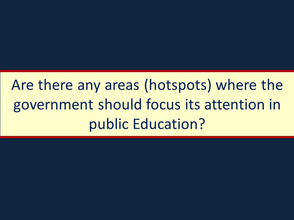 School Coverage Are there areas where more public schools are needed.