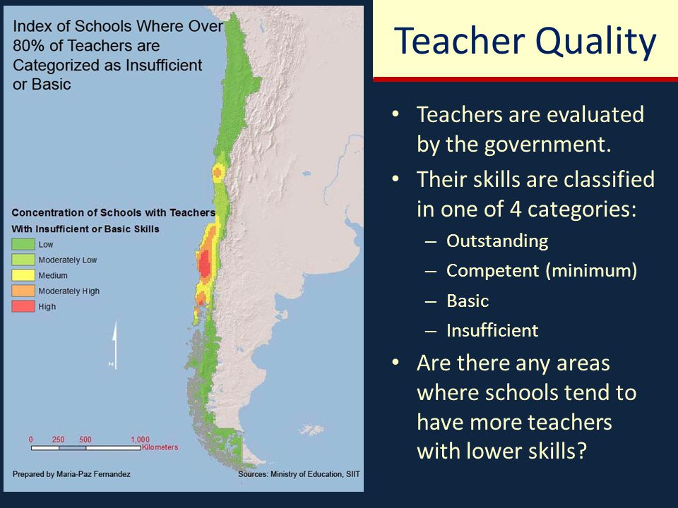 Teachers are evaluated by the government.