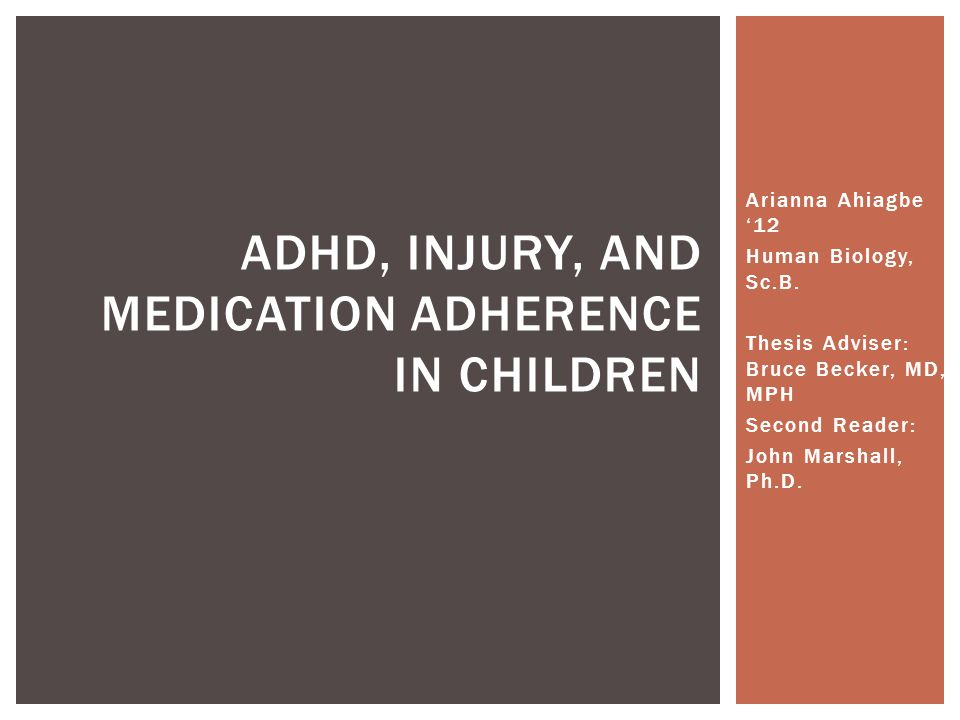  Prospective, randomized, case-controlled  Hasbro Children's Hospital Emergency Department -16-20% ADHD prevalence  Brief interview with patient and parent/guardian  Possible Data - ADHD diagnosis- ADHD medications- Age- Gender - Injury or a non-injury condition- Race/ethnicity - Years of education- Parental education- Insurance status, -Primary care physician status- PCP visit in the last year  Chi-Square & Odds Ratio Analysis STUDY DESIGN