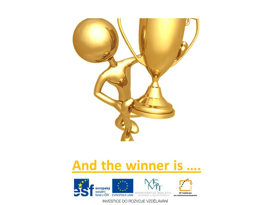 And the winner is ….