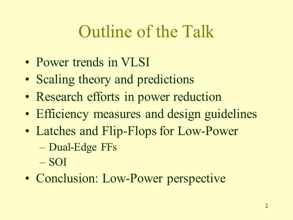 3 Power trends in VLSI