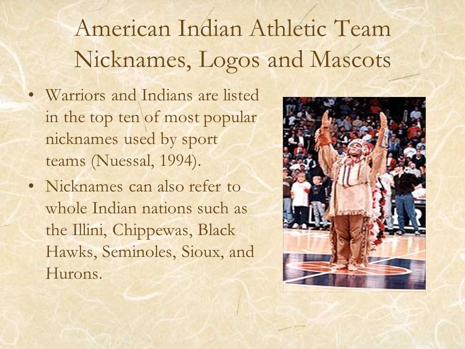 Sports Team Images Highly Visible Symbolism –Positive bravery, courage, and strength –Negative brutality, fury, violence, and viciousness Most often symbols of Natives are the negative ones