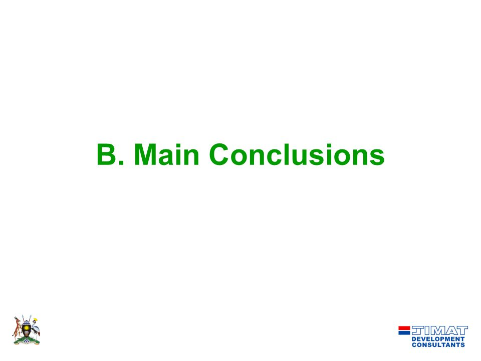 B. Main Conclusions