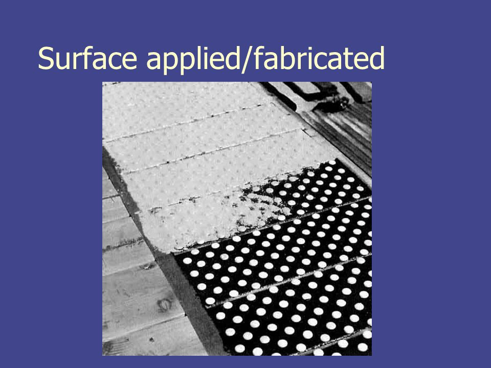 Surface applied/fabricated